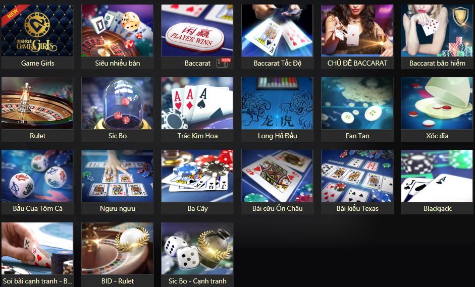Tổng hợp Game trên Casino trực tuyến K13 – Phần1